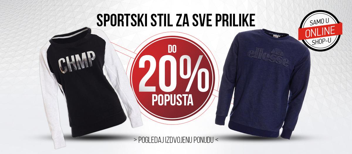Spotski stil 20% popusta - Odjeća