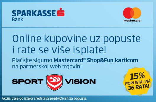 Plaćaj SPARKASSE Shop&Fun karticom i ostvari dodatnih 15% popusta