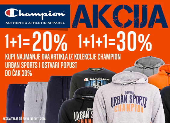 CHAMPION URBAN SPORT SUPER AKCIJA!
