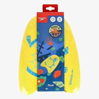 SPEEDO TURTLE PRINTED FLOAT IU YELLOW/BLUE