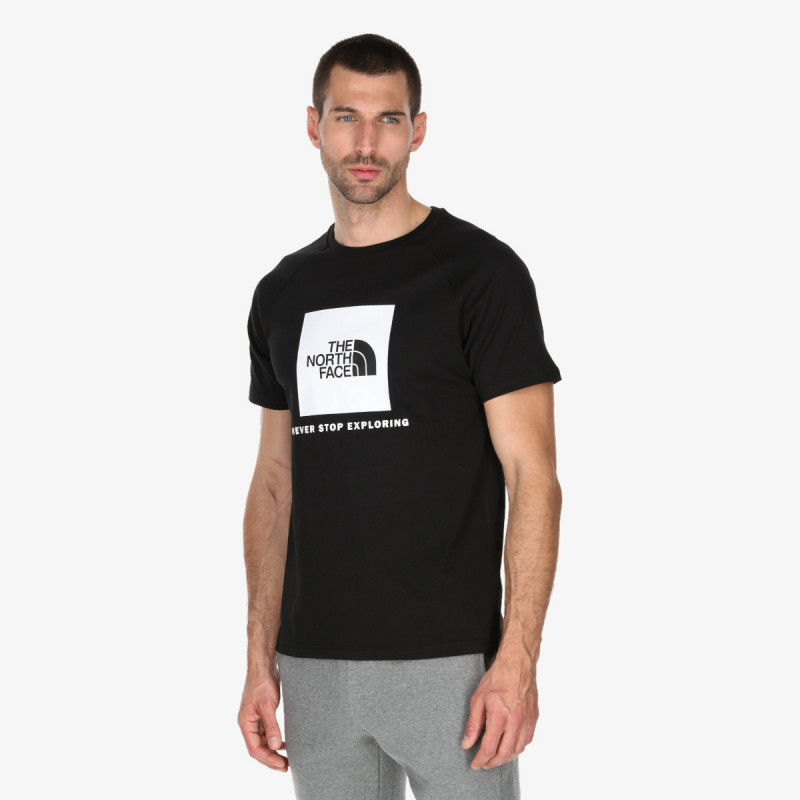 THE NORTH FACE M SS RAG RED BOX TEE TNF BLACK