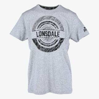 LONSDALE Majica BLACK LOGO TEE