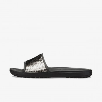 CROCS Papuče CROCS SLOANE METAL TEXT SLIDE W