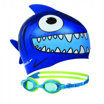 SPEEDO Kapa za plivanje SEA SQUAD CAP AND GOGGLE SET