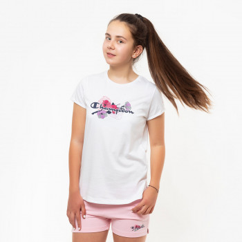 CHAMPION Majica GIRLS FLOWER T-SHIRT