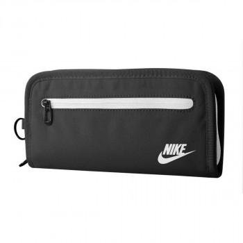 JR NIKE Novčanik NIKE HERITAGE LONG WALLET BLACK/WHITE
