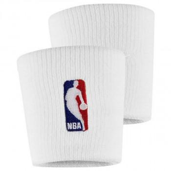 JR NIKE Znojnica NIKE WRISTBANDS NBA WHITE/WHITE
