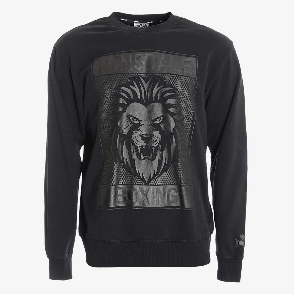LONSDALE Dukserica BLK LION SWEAT